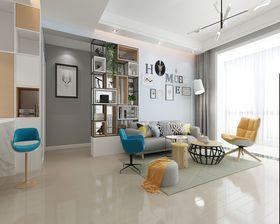 130平米三室三厅现代简约风格客厅装修案例