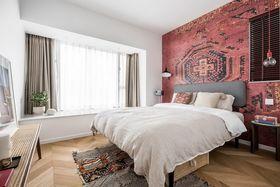 130平米三室一厅北欧风格卧室装修案例