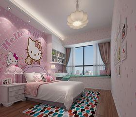 140平米三中式风格儿童房图片
