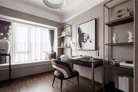 90平米三室两厅中式风格书房图片