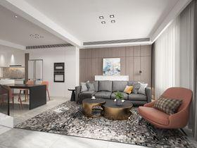 110平米三室两厅现代简约风格影音室装修效果图