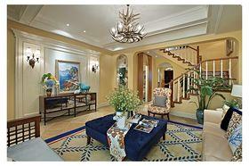 富裕型140平米三室两厅地中海风格客厅图