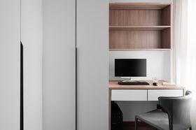 90平米三室兩廳現代簡約風格書房圖