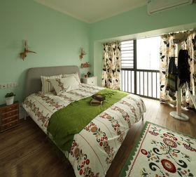 富裕型130平米三室两厅混搭风格卧室欣赏图