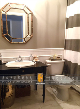 10-15万110平米三室两厅美式风格卫生间图片