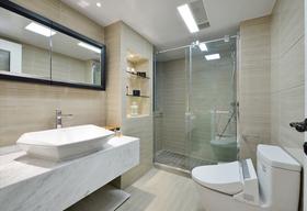 120平米三室两厅混搭风格卫生间欣赏图