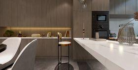 140平米三室三厅现代简约风格餐厅装修效果图