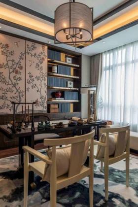 100平米三中式风格书房欣赏图
