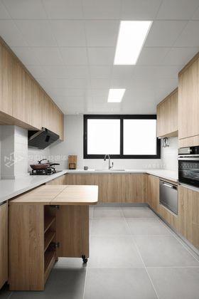 120平米三室兩廳日式風格廚房圖片