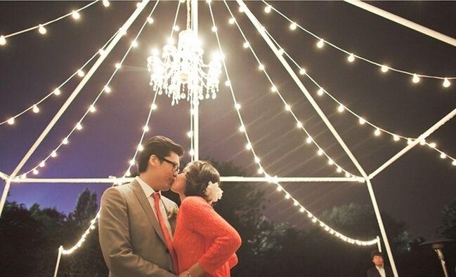 童话系创意 16个浪漫灯光婚礼背板