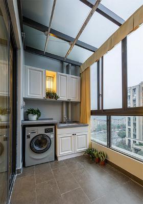经济型80平米三室两厅美式风格阳台设计图