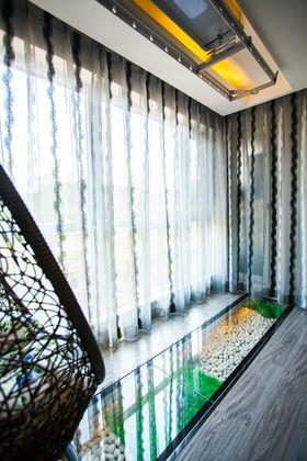 120平米三室两厅现代简约风格阳台效果图