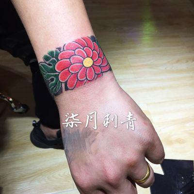 传统手环纹身款式图-大众点评纹身图案大全