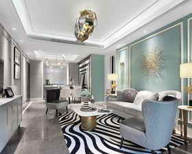 100平米三室两厅英伦风格客厅装修图片大全