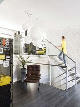 90平米复式北欧风格楼梯间装修效果图