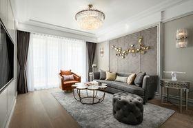 140平米三室兩廳美式風格客廳裝修效果圖