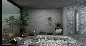 豪华型140平米复式现代简约风格阳台装修效果图