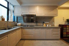140平米三室三厅田园风格厨房欣赏图
