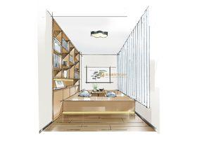 110平米三室两厅中式风格储藏室装修图片大全