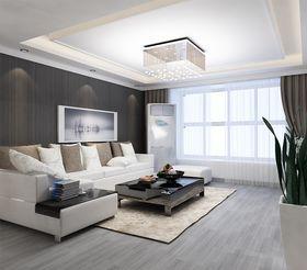 110平米三室兩廳現代簡約風格客廳設計圖