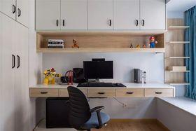 90平米三室一廳現代簡約風格書房圖片大全