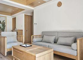 80平米三室一厅日式风格客厅图