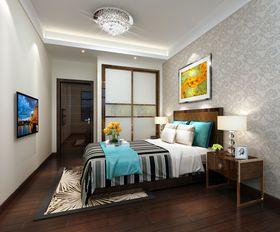 富裕型130平米四室两厅现代简约风格卧室图