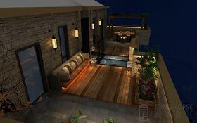 140平米复式欧式风格阳光房设计图