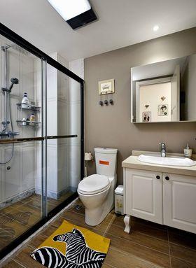 10-15万110平米三室两厅美式风格卫生间图片大全