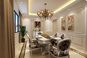 140平米別墅歐式風格餐廳圖
