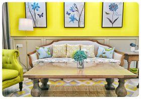 140平米三室一厅东南亚风格客厅装修案例