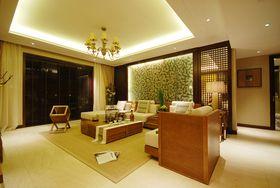 富裕型140平米三室两厅东南亚风格客厅图片