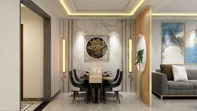 140平米三室两厅混搭风格餐厅设计图