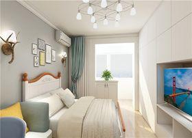 60平米三室一厅北欧风格卧室设计图