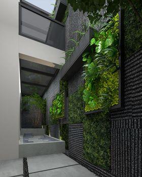 140平米复式现代简约风格阳台图片大全