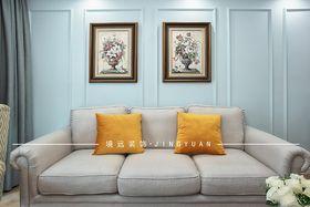 90平米美式风格客厅设计图