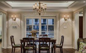 130平米三室一廳美式風格餐廳圖片大全