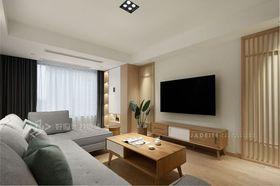 120平米三室兩廳日式風格客廳欣賞圖
