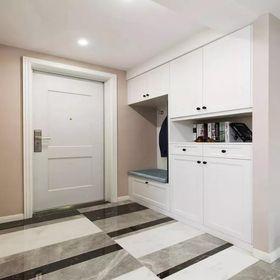 130平米三室两厅美式风格玄关装修图片大全