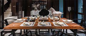 20万以上110平米复式中式风格餐厅装修图片大全