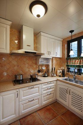 110平米四室两厅美式风格厨房图片
