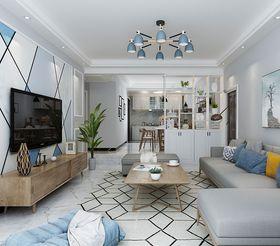 120平米三室兩廳北歐風格客廳圖片