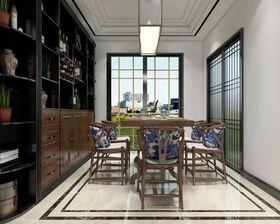130平米三室一厅中式风格餐厅装修效果图