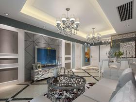 80平米三室兩廳歐式風格客廳圖片大全