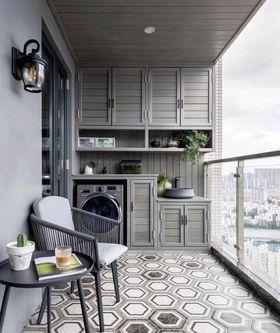 120平米三室两厅美式风格阳台设计图