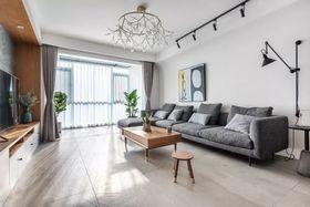 90平米现代简约风格客厅装修案例