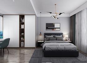 90平米三室一厅北欧风格卧室设计图