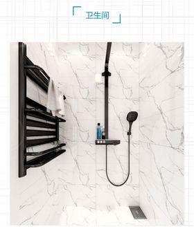 70平米美式風格衛生間圖片大全