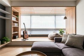 120平米三室一厅日式风格阳台设计图