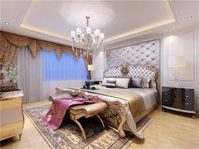 140平米三室兩廳歐式風格臥室背景墻裝修效果圖